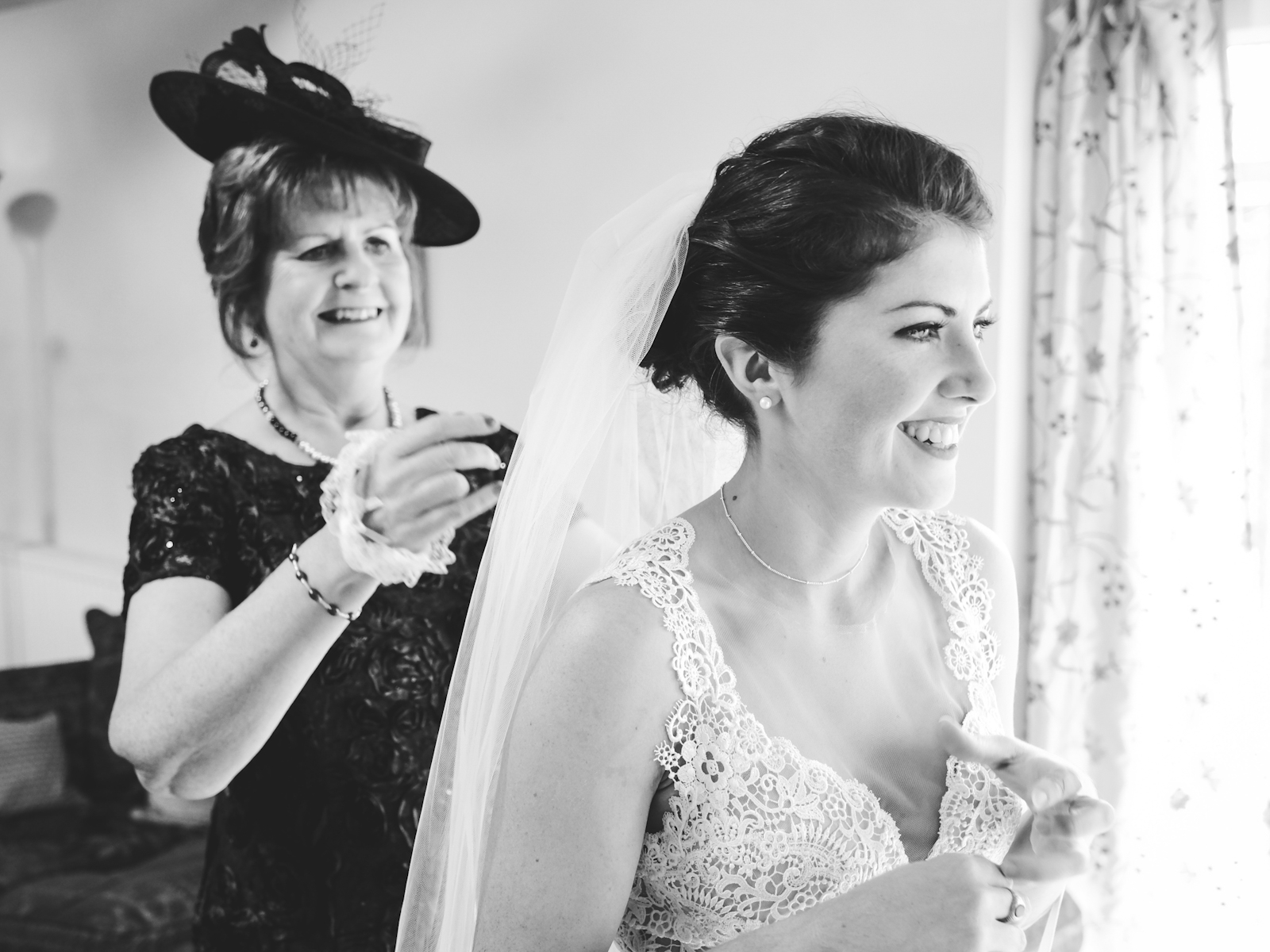 bride and the mother of the bride.